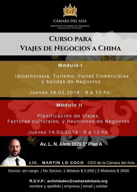 Curso de Protocolo para Viajes de Negocios a China